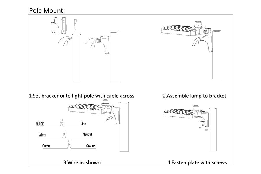 led parking lot light, area light, shoe box